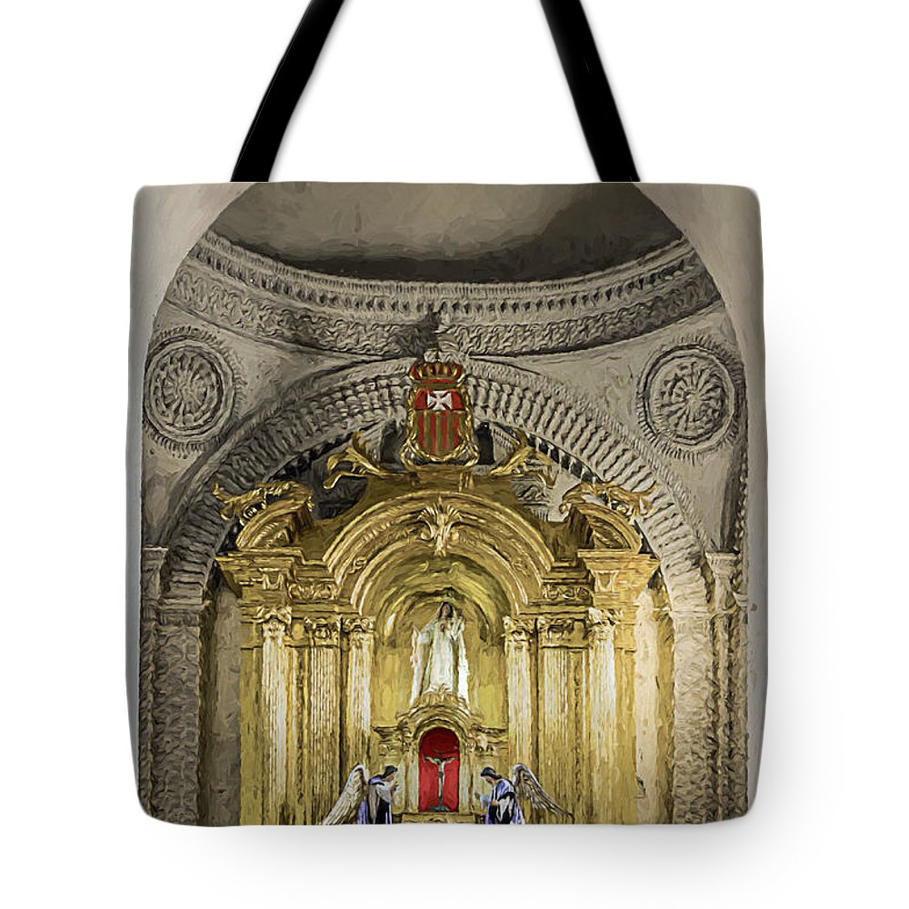 Altar Tote Bag featuring the photograph Saint Joseph Cathedral by Maria Coulson