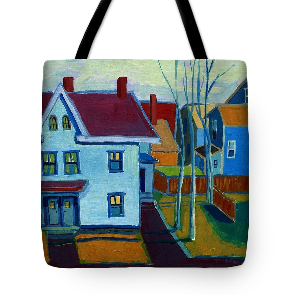 City Scene Tote Bag featuring the painting Saints Memorial View by Debra Bretton Robinson