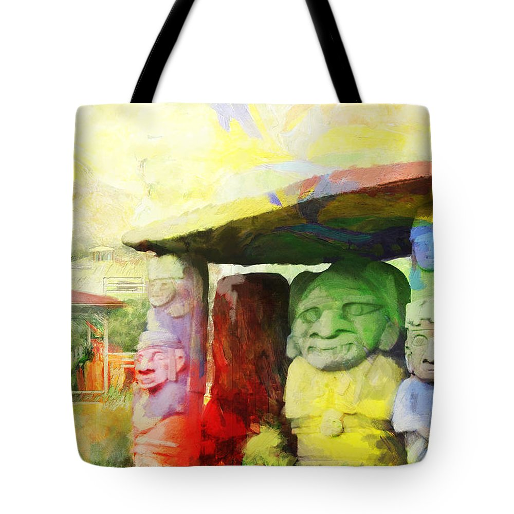 Tote Bag featuring the painting Sait Augustine Archeological Park by Catf