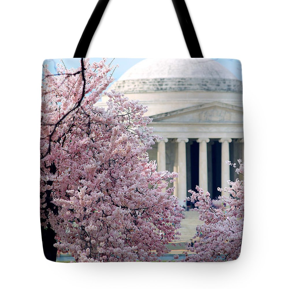 Cherry Blossoms Tote Bag featuring the photograph Sakura by Mitch Cat