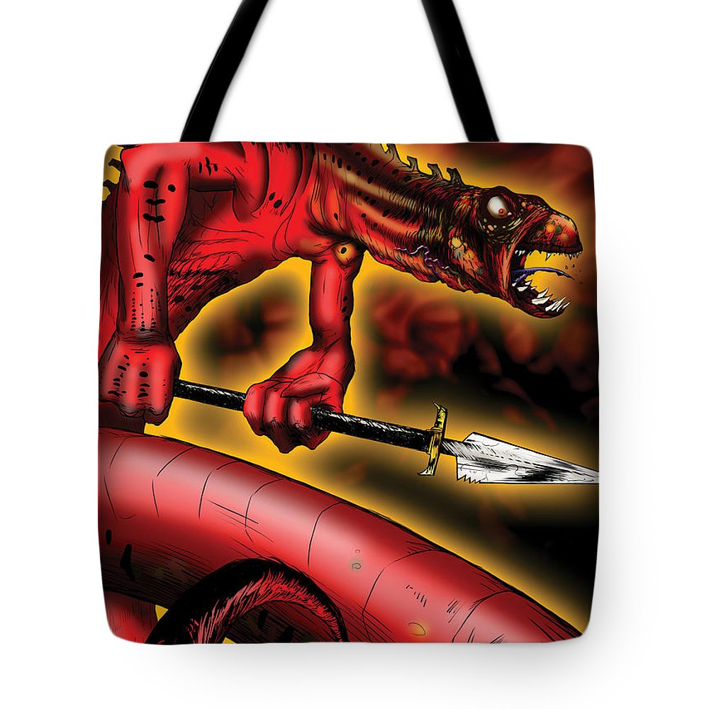Usherwood Tote Bag featuring the digital art Salamander by James Kramer