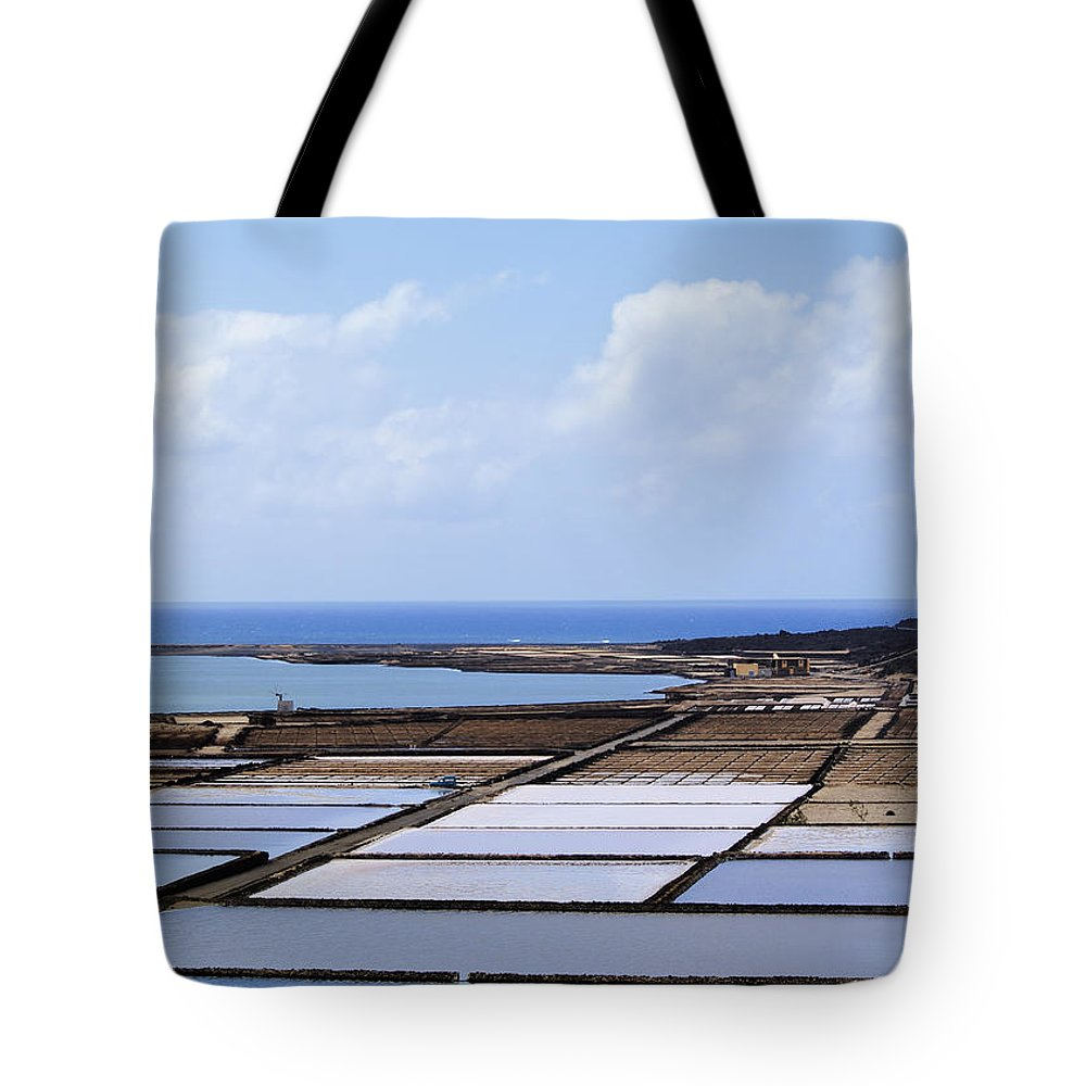 Saltworks Tote Bag featuring the photograph Salinas De Janubio On Lanzarote by Karol Kozlowski