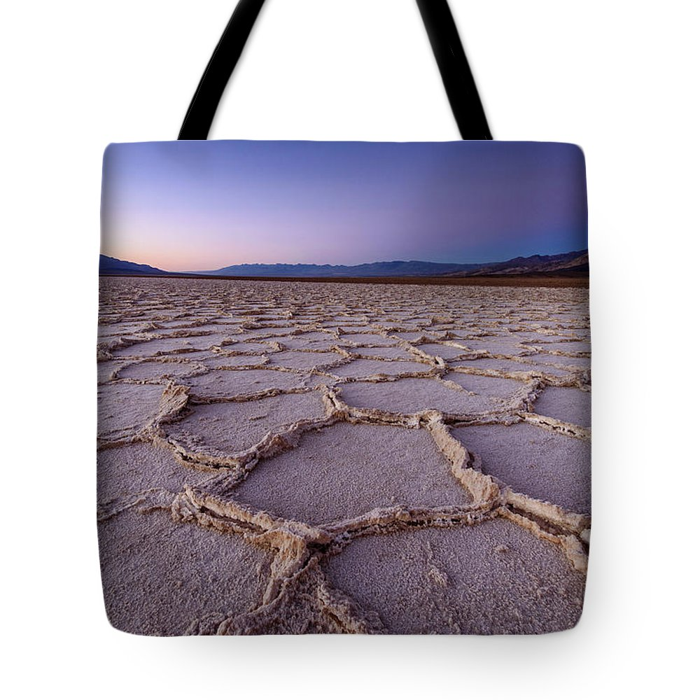 Scenics Tote Bag featuring the photograph Salt Flat Basin by Piriya Photography