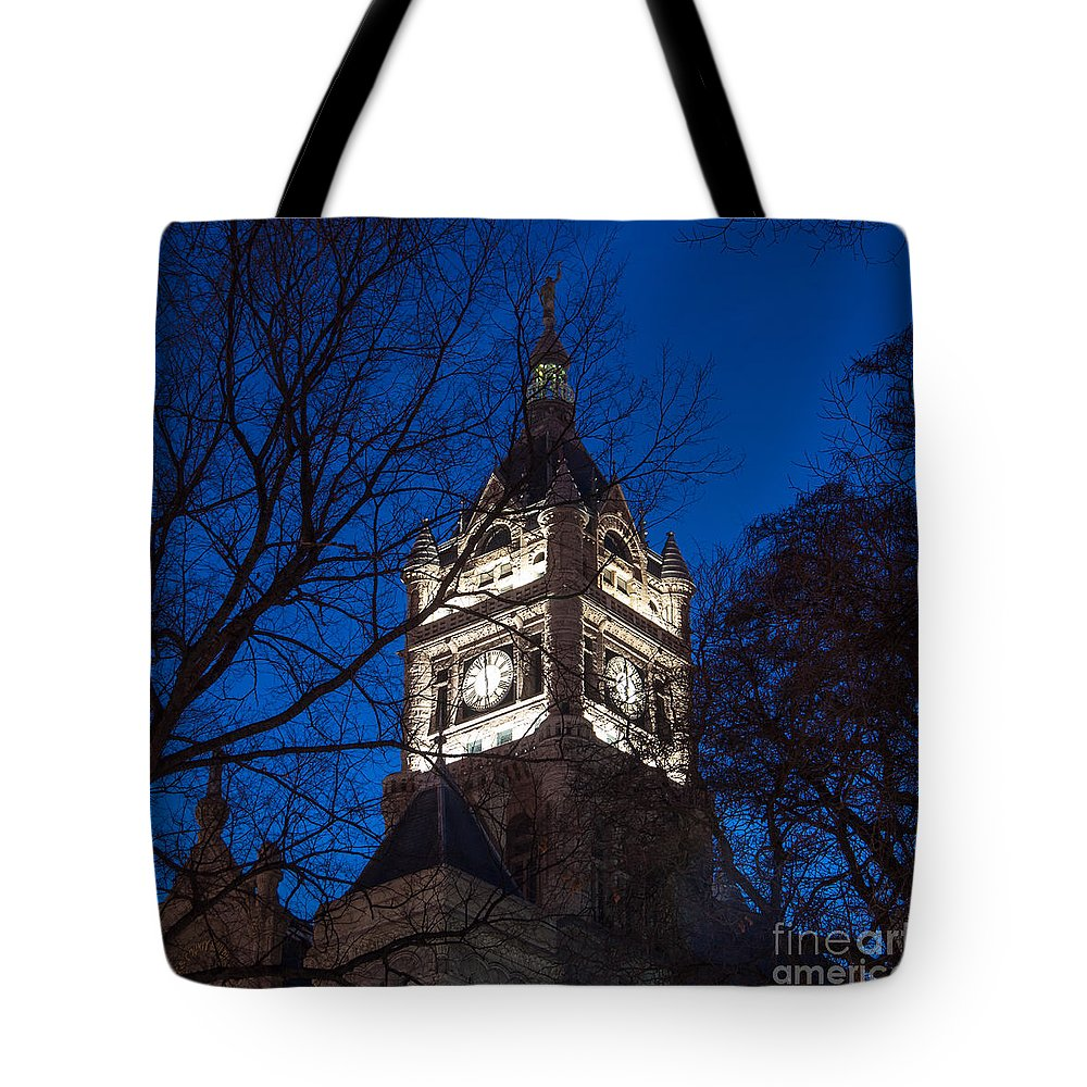Salt Lake Tote Bag featuring the photograph Salt Lake City And County Building At Night by Gary Whitton