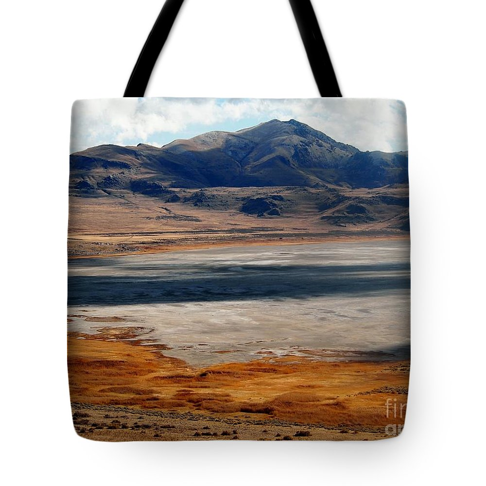 Salt Lake City Tote Bag featuring the photograph Salt Lake City Antelope Island by Jennifer Craft