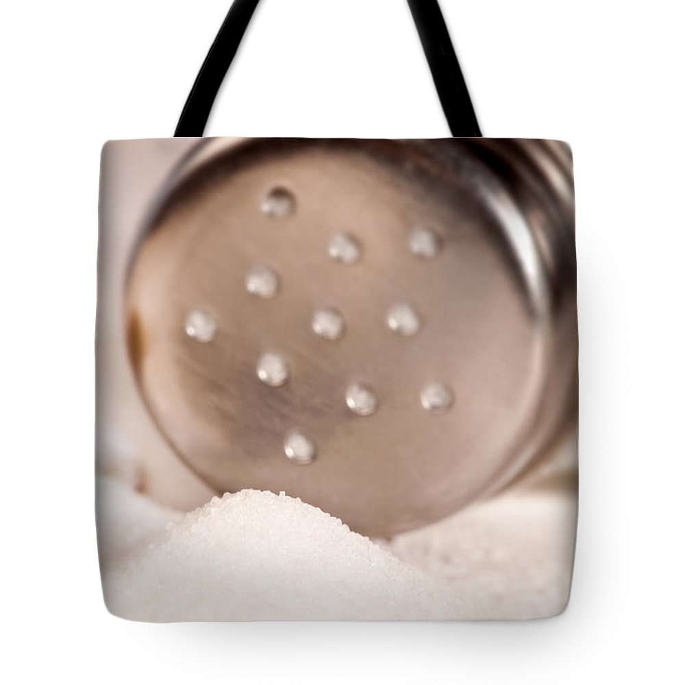 Iris Holzer Richardson Tote Bag featuring the photograph Salt Shaker by Iris Richardson