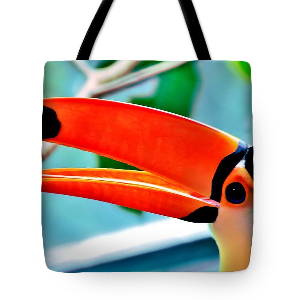 Toucan Tote Bag featuring the photograph Sam by Benjamin Yeager