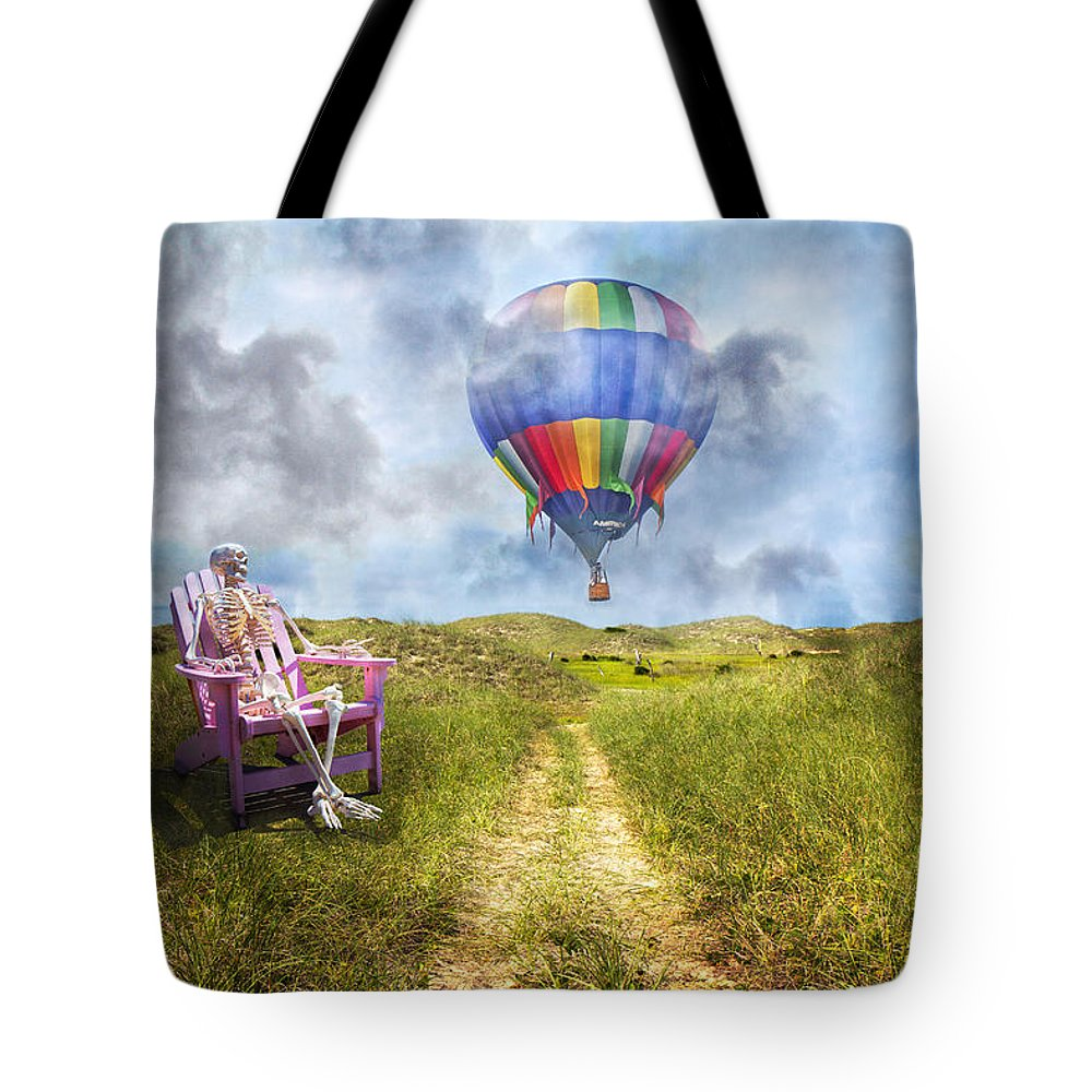 Humans Tote Bag featuring the photograph Sam Contemplates Ballooning by Betsy Knapp