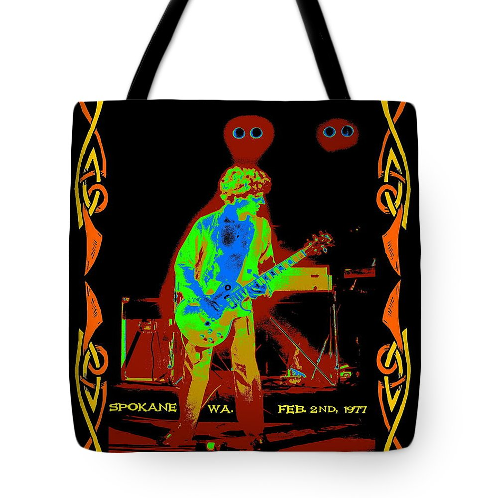 Sammy Hagar Tote Bag featuring the photograph Sammy And Special Guests 1977 by Ben Upham