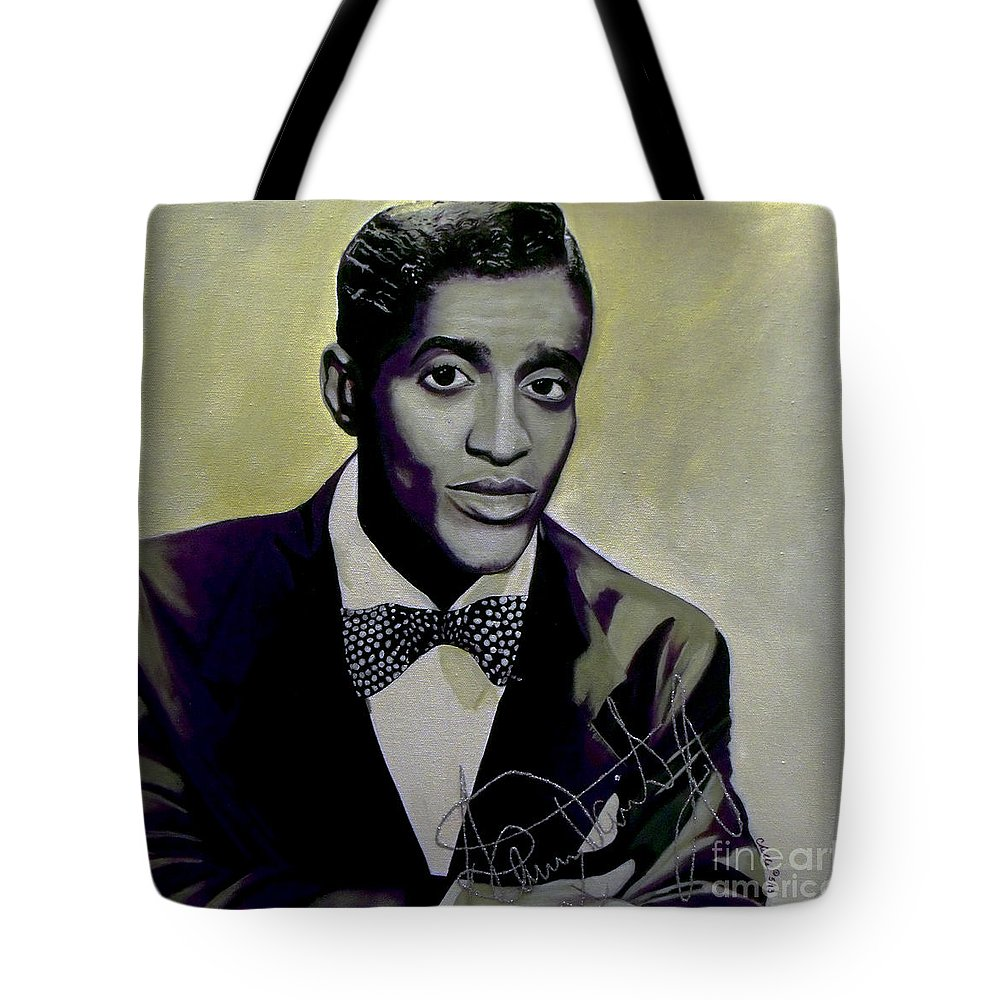 Acrylic Tote Bag featuring the painting Sammy Davis Jr. by Chelle Brantley