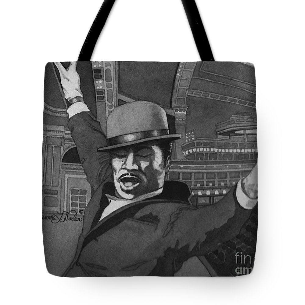 Dance Tote Bag featuring the painting Sammy Davis Jr by JL Vaden