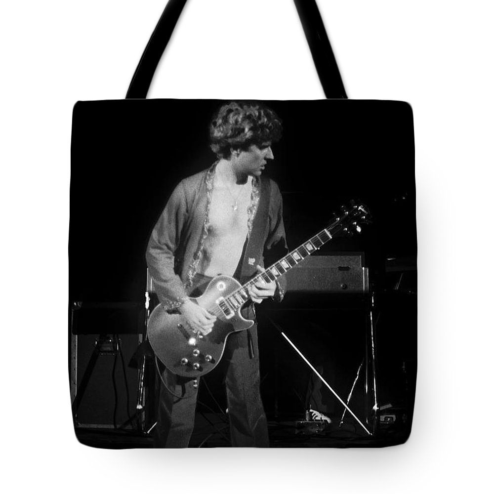 Sammy Hagar Tote Bag featuring the photograph S H In Spokane On 2-2-77 by Ben Upham