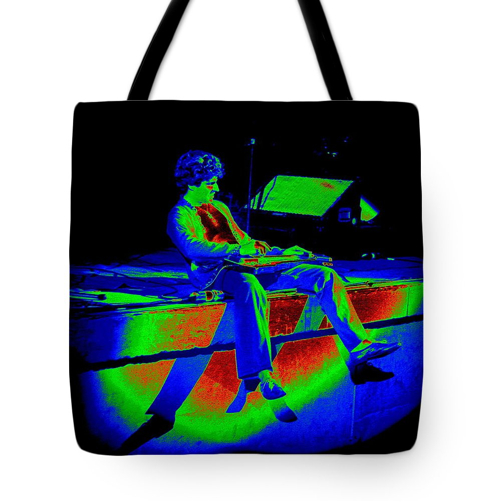 Sammy Hagar Tote Bag featuring the photograph S H In Technicolor 1977 by Ben Upham