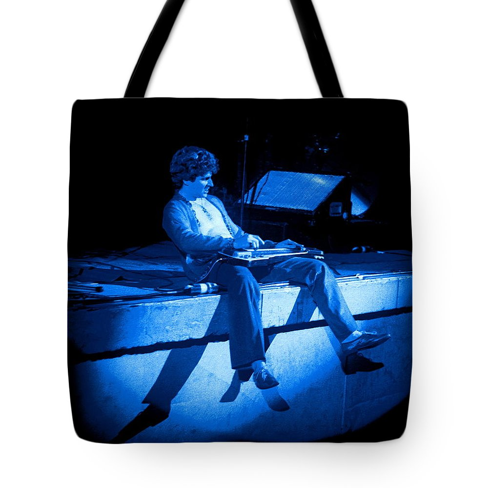 Sammy Hagar Tote Bag featuring the photograph S H Plays The Blues In Spokane On 2-2-77 by Ben Upham