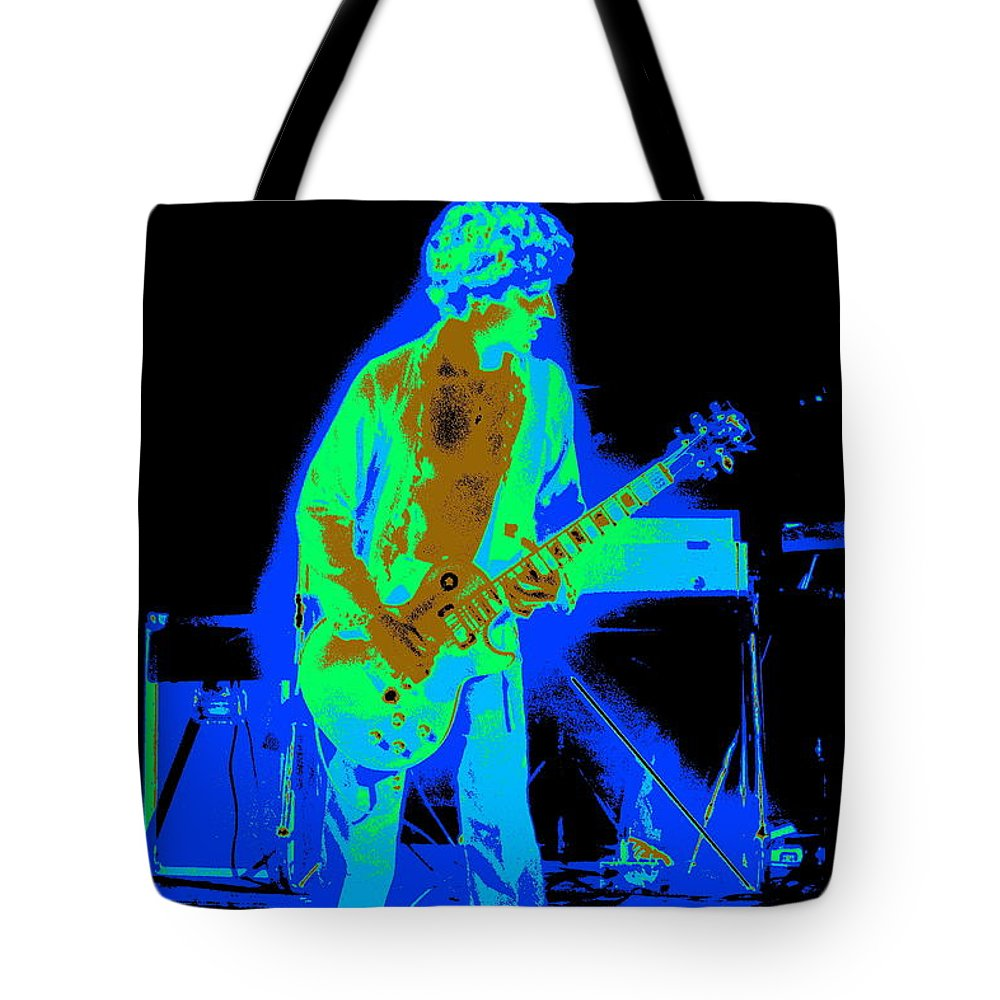 Sammy Hagar Tote Bag featuring the photograph Rocking The Aliens In Spokane 1977 by Ben Upham