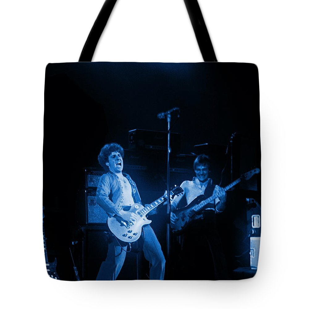 Sammy Hagar Tote Bag featuring the photograph Sammy Plays The Blues In Spokane In 1977 by Ben Upham