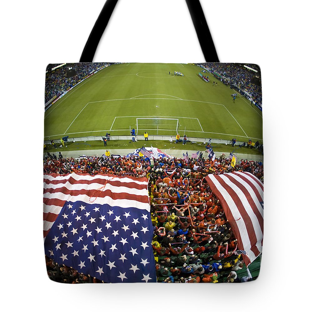 Sports & Recreation Tote Bag featuring the photograph Sams Army From Above by Jason O Watson