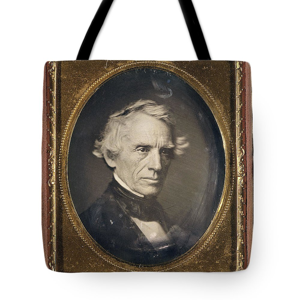 1845 Tote Bag featuring the photograph Samuel Finley Breese Morse by Granger