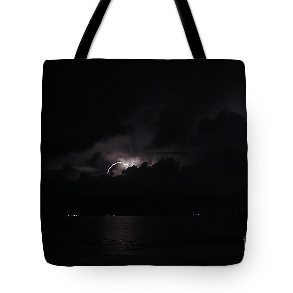 Panama Tote Bag featuring the photograph San Blas Lightning Show by Bob Hislop