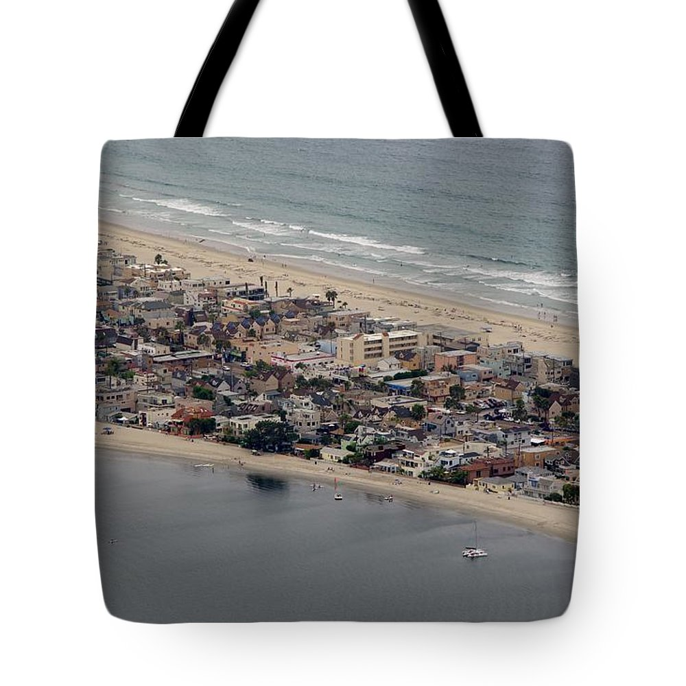 San Diego Tote Bag featuring the photograph San Diego Coast Aeriol 3 by Phyllis Spoor