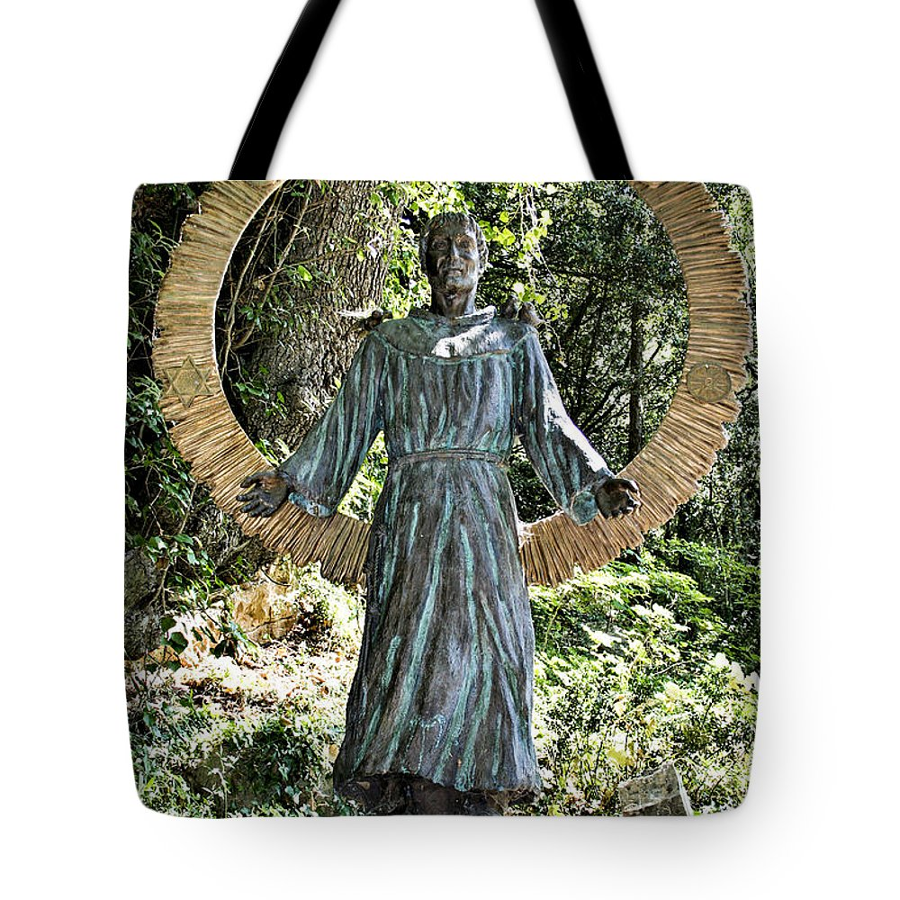 Assisi Tote Bag featuring the photograph San Francesco D'assisi by Sonny Marcyan