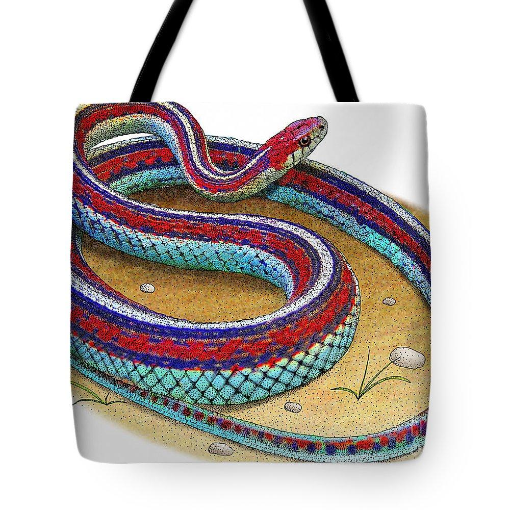 San Francisco Garter Snake Tote Bag
