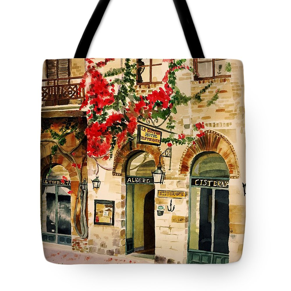 Award-winning Tote Bag featuring the painting San Gimignano by Judy Swerlick