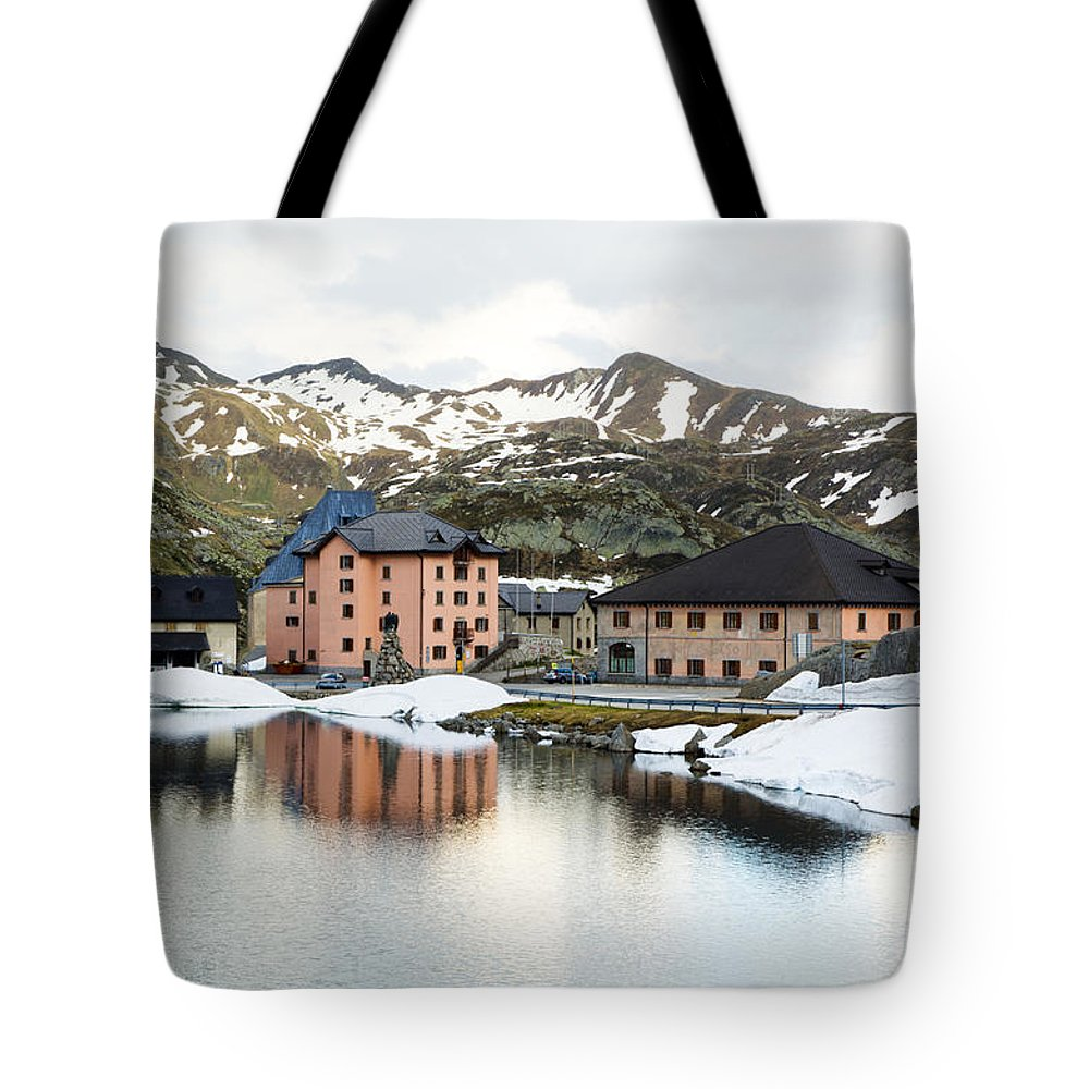 Houses Tote Bag featuring the photograph San Gottard Pass by Mats Silvan