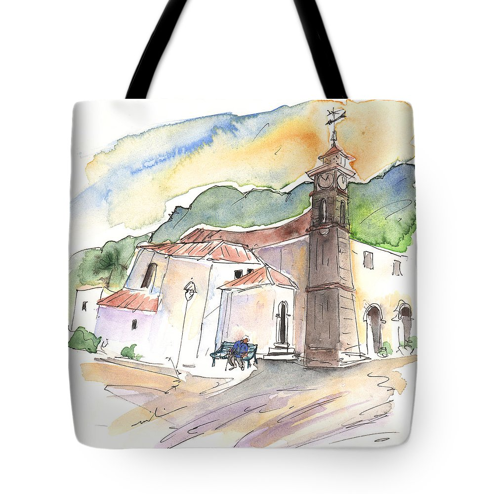 Travel Tote Bag featuring the painting San Juan De La Rambla 05 by Miki De Goodaboom