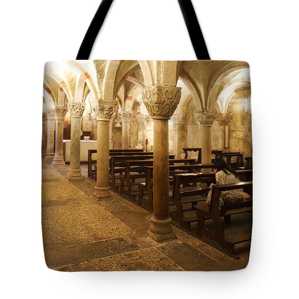 Architecture Tote Bag featuring the photograph San Michele Chapel by Roberto Pagani