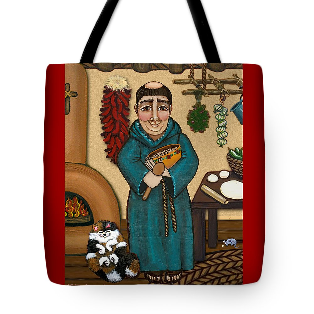 San Pascual Tote Bag featuring the painting San Pascual by Victoria De Almeida