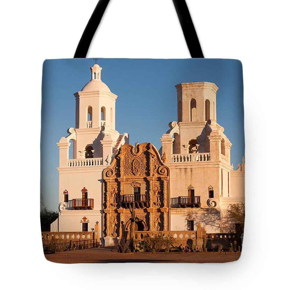 Clarence Holmes Tote Bag featuring the photograph San Xavier Del Bac Mission IIi by Clarence Holmes