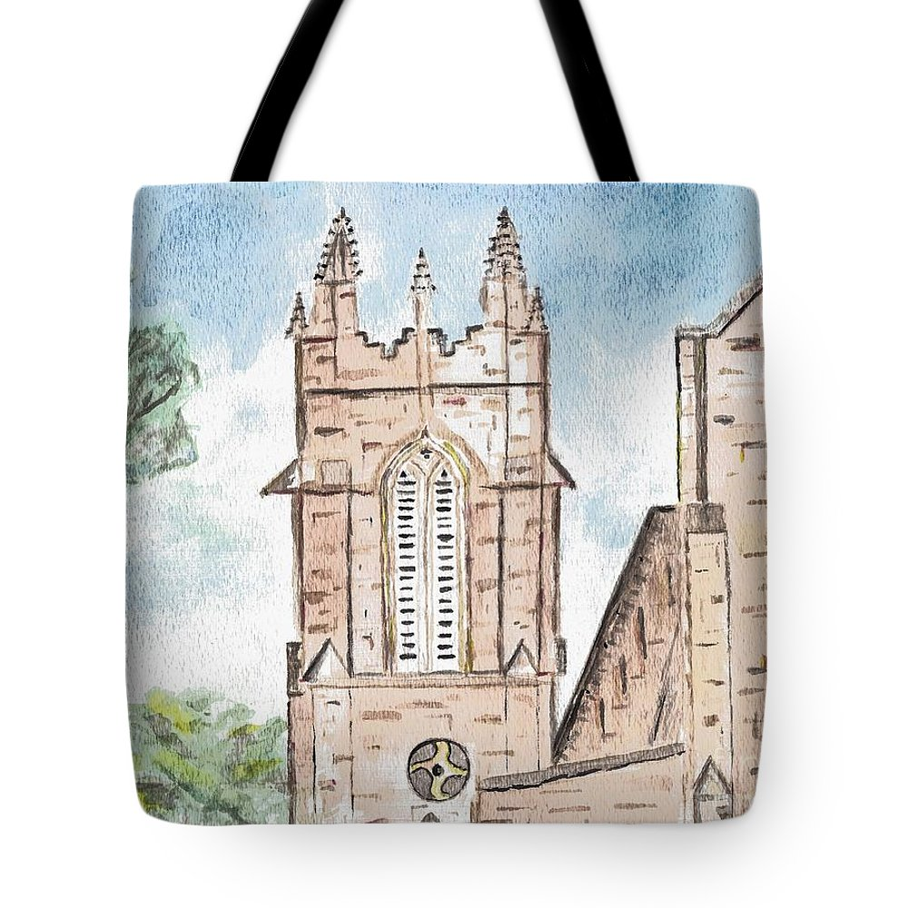 Church Tote Bag featuring the painting Sanctuary by Elizabeth Briggs