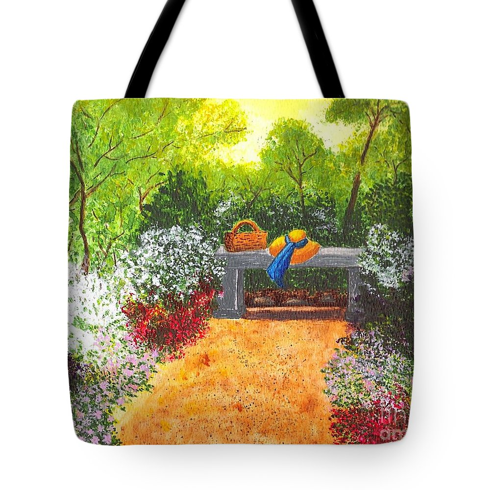 Garden Painting Tote Bag featuring the painting Sanctuary by Patricia Griffin Brett