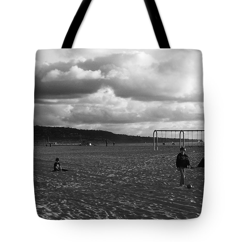 Black And White Photography Tote Bag featuring the photograph Yesterday by Fei A