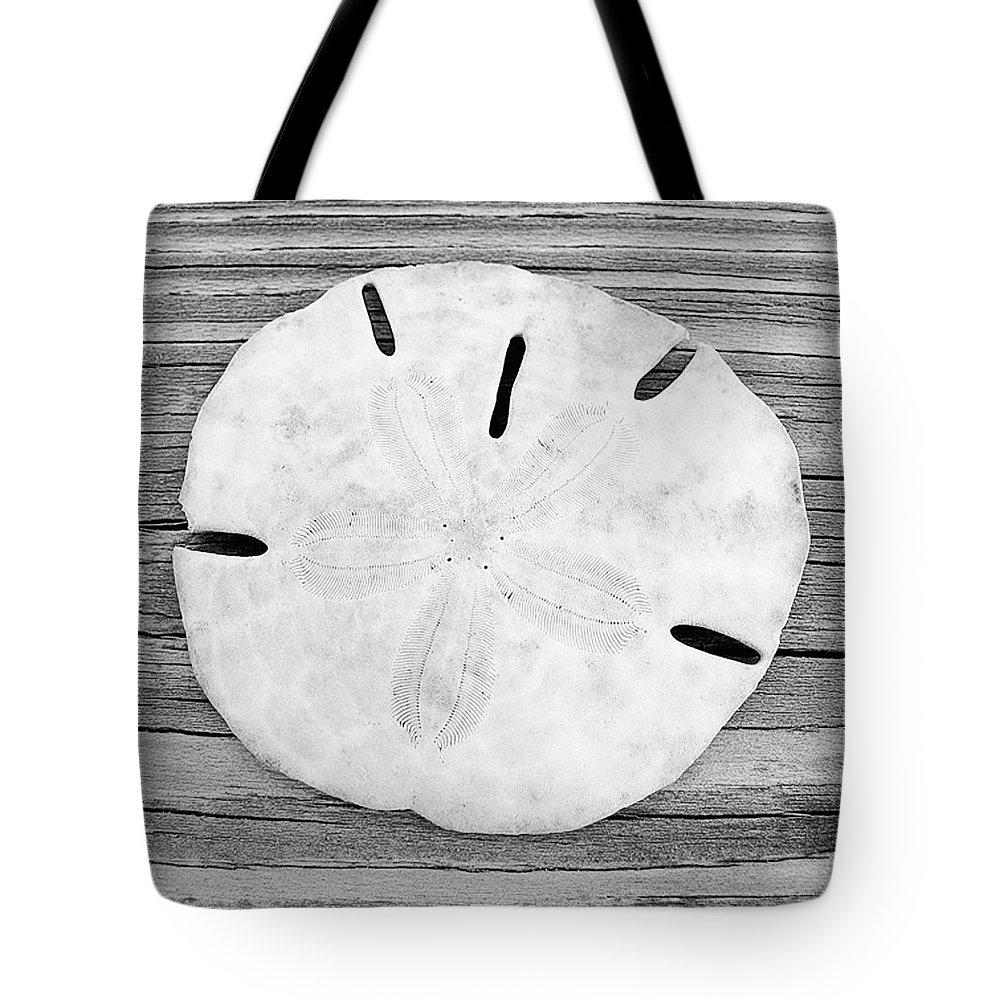 B&w Tote Bag featuring the photograph Sand Dollar by Christopher Meade
