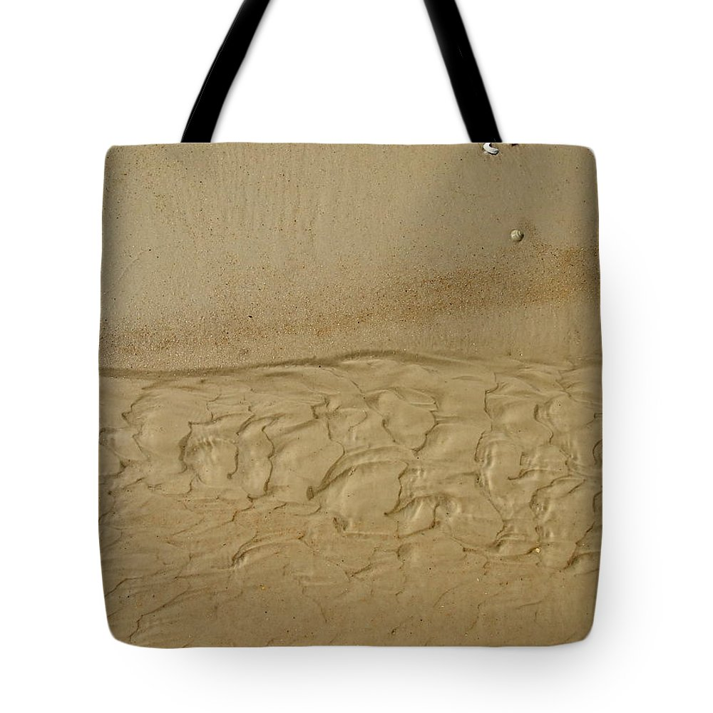 Sand Tote Bag featuring the photograph Sand Patterns by Susan Wyman