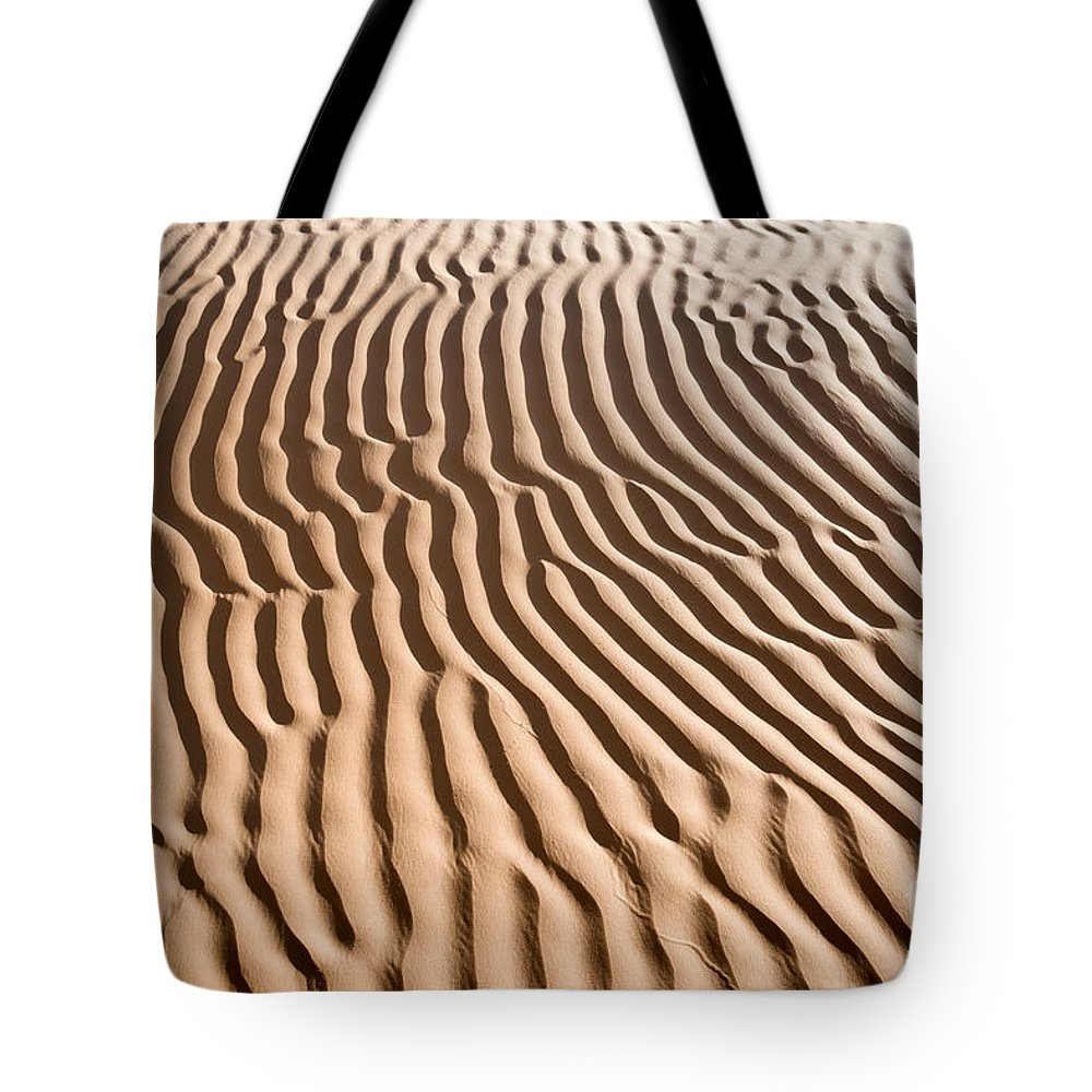Sand Tote Bag featuring the photograph Sand Ripples by Delphimages Photo Creations