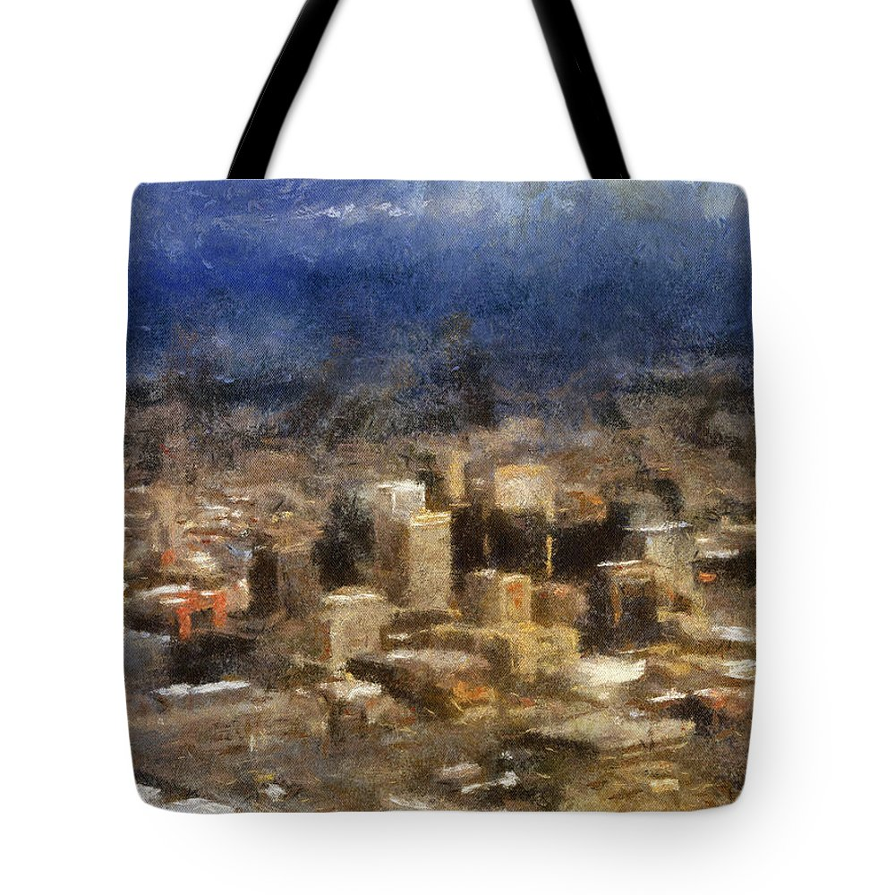 Phoenix Tote Bag featuring the photograph Sand Storm Approaching Phoenix Photo Art by Thomas Woolworth