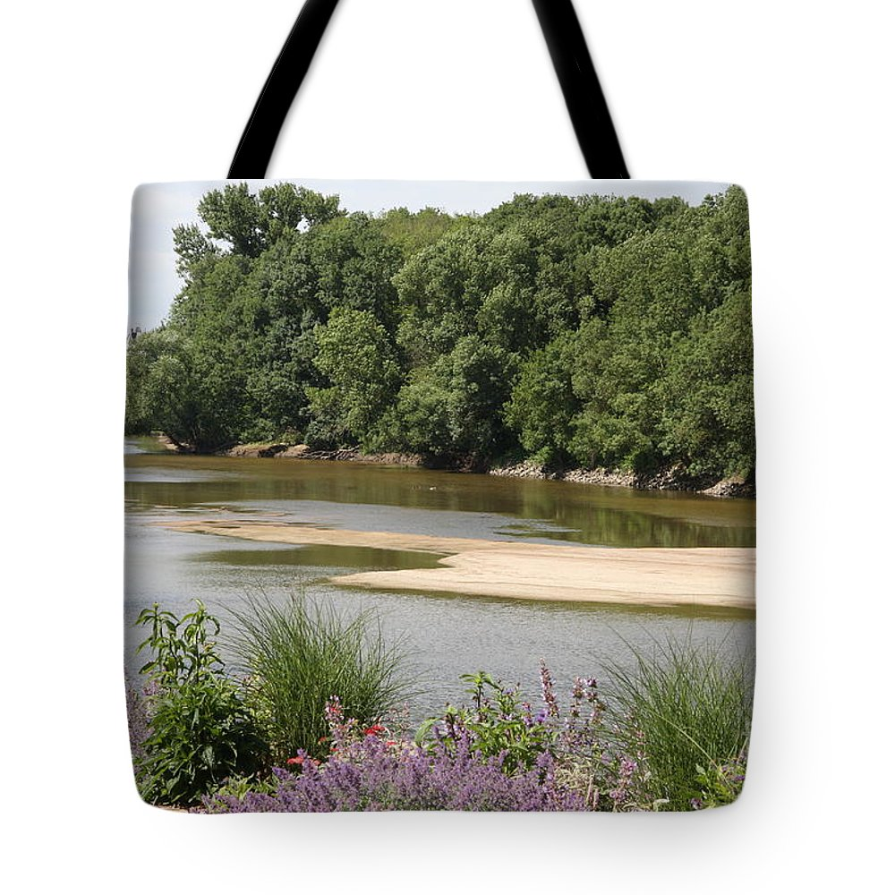 River Tote Bag featuring the photograph Sandbanks In The River by Christiane Schulze Art And Photography
