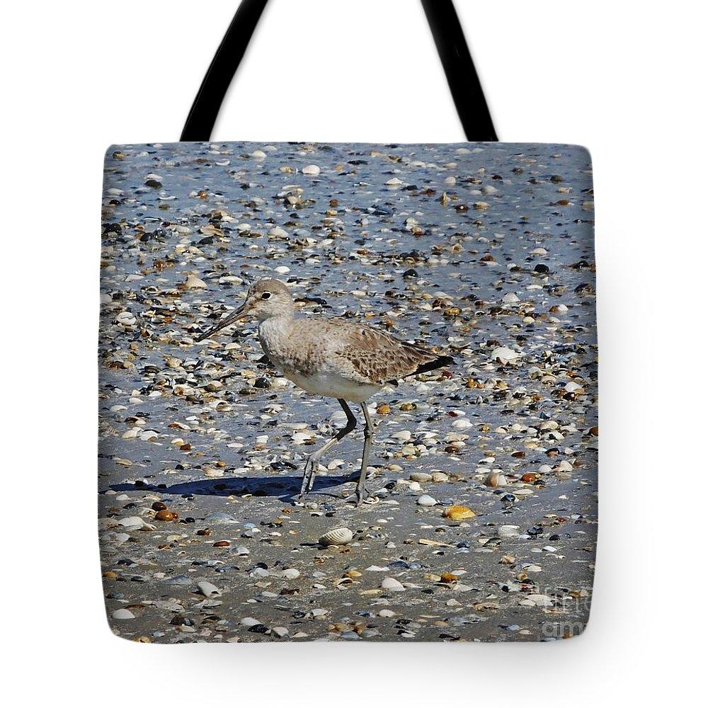 Shore Bird Tote Bag featuring the photograph Sandpiper Galveston Is Beach Tx by Lizi Beard-Ward