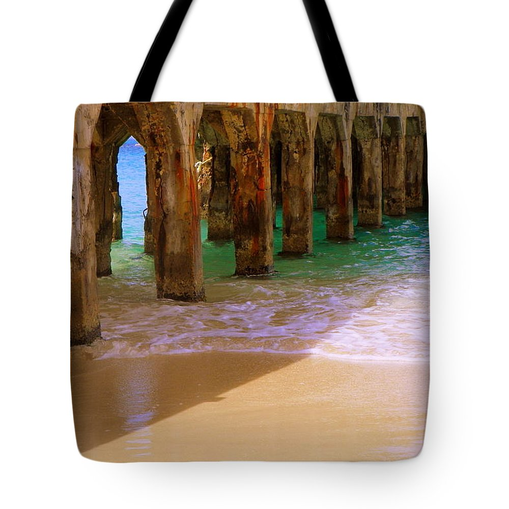 Beaches Tote Bag featuring the photograph Sands Of Time by Karen Wiles