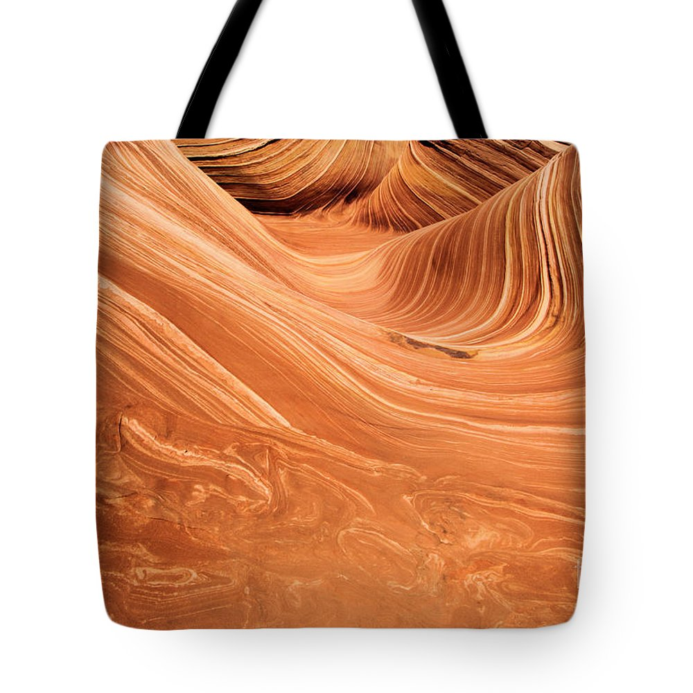 The Wave Tote Bag featuring the photograph Sandstone 3d by Adam Jewell