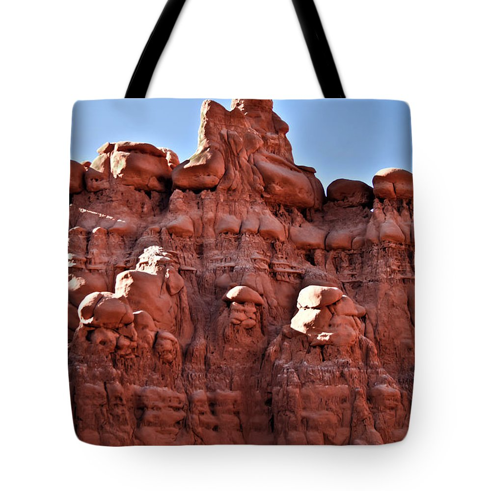 Goblin Valley Tote Bag featuring the photograph Sandstone Goblin Valley by Robert Bales