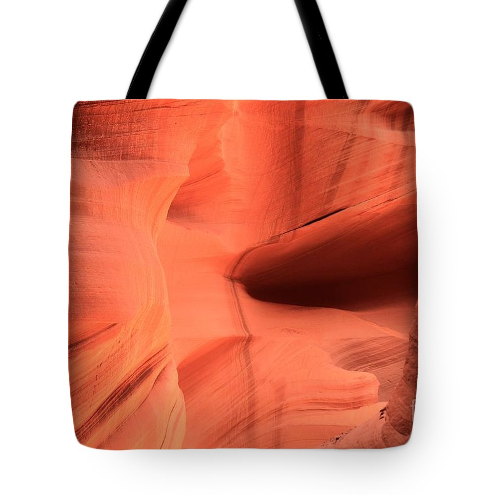 Arizona Slot Canyon Tote Bag featuring the photograph Sandstone Ledges And Swirls by Adam Jewell