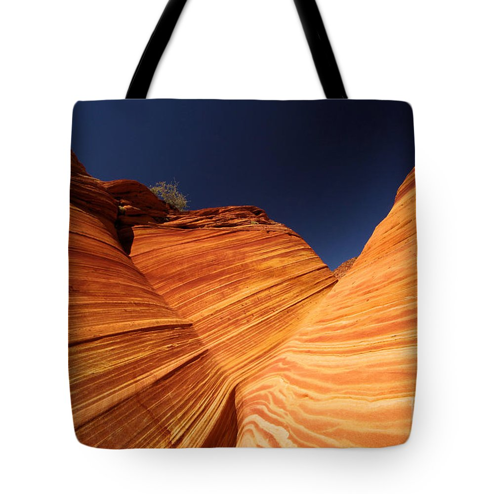 The Wave Tote Bag featuring the photograph Sandstone Waves by Adam Jewell