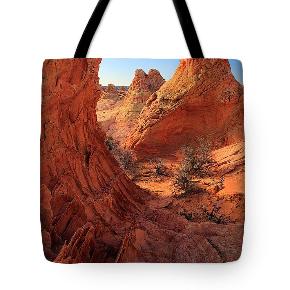 America Tote Bag featuring the photograph Sandstone Window by Inge Johnsson