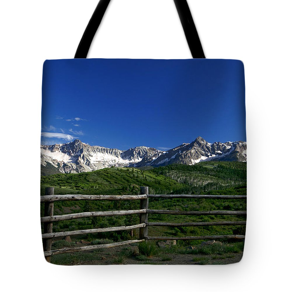 13ers Tote Bag featuring the photograph San Juan Gateway by Jeremy Rhoades