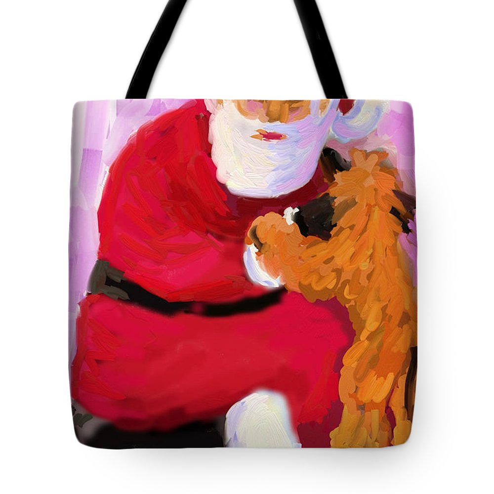Santa Claus Tote Bag featuring the digital art Santa Baby by Terry Chacon