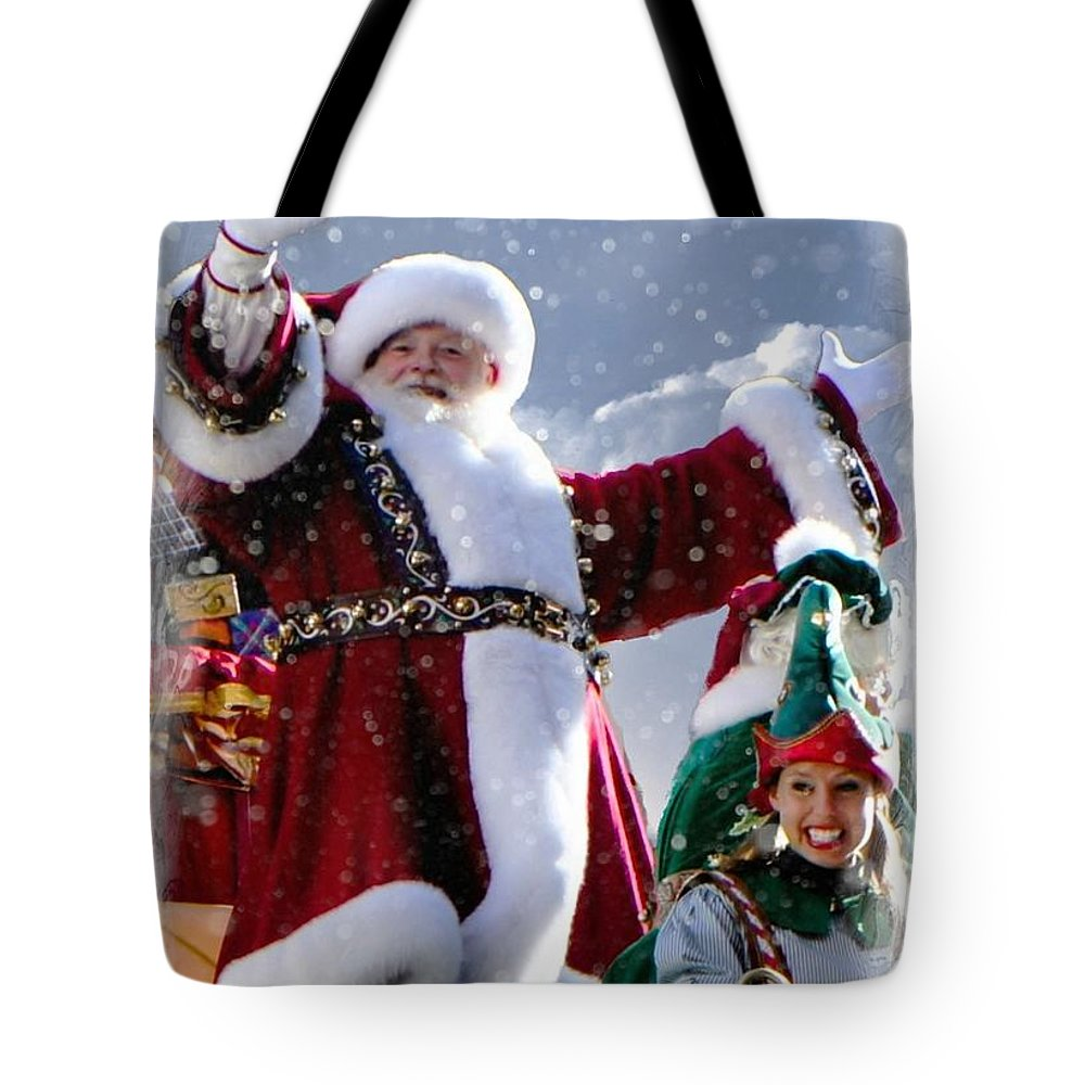 Christmas Tote Bag featuring the photograph Santa Claus by Lilliana Mendez